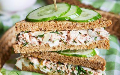 915- Herbed Tuna Club Sandwich  / كلوب سندويتش التونة بالأعشاب
